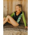 Calida Surf One Piece | Green Bird