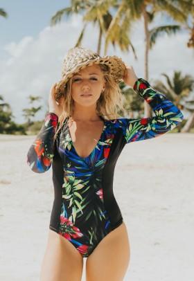 Calida Surf One Piece | Black Palm