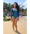 Calida Surf One Piece | Violet&Green